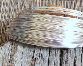 22 gauge round sterling filled wire 10 ft 10 % sterling bonded to white brass super alternative to sterling