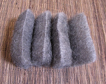 steel wool 0  , 8 pads for matte finish rustic oxidise remover metal working
