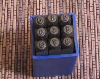 Bold 3mm number set steel stamps  hand stamping