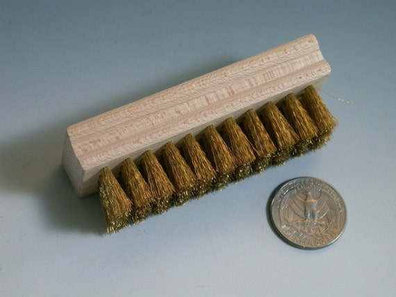Soft Brass brush for brushing clean newly pickled items after soldering Longer lasting than other styles