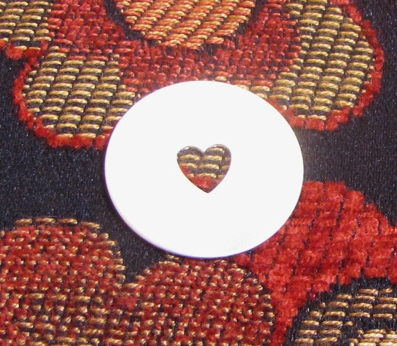 1 inch 22 gauge sterling baby heart cutout disc for the cutest stamps ever