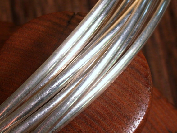 1 foot number 5 Low dome half round sterling .925  wire 4.32mm x 1mm