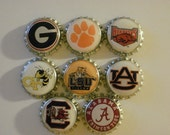 Assorted College Logo Finished Bottle Caps - 8