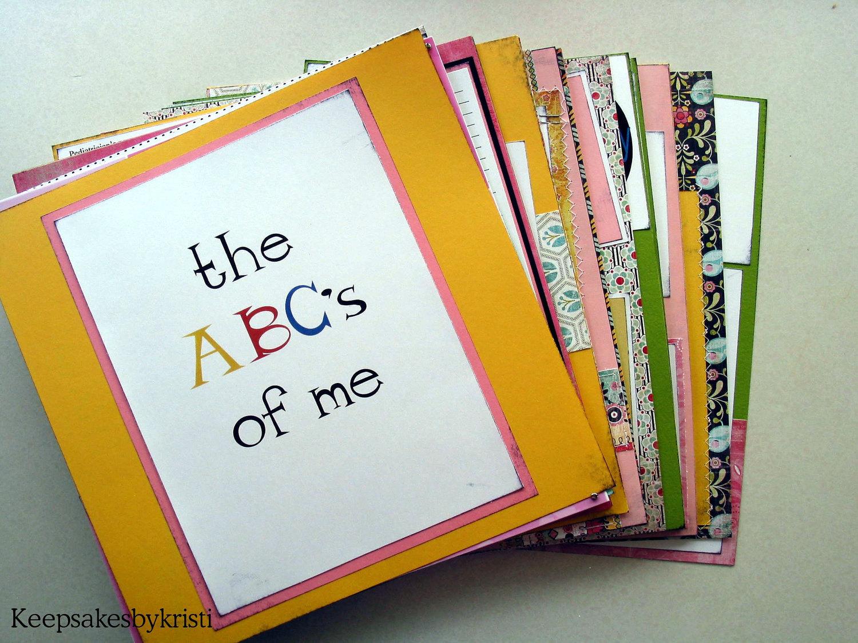 Scrapbook ideas abc album -  Zoom