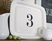 4 Custom Letter and Number Decals as seen in The Lettered Cottage - Set of Four Vinyl Decals - Choose four letters and/or numbers