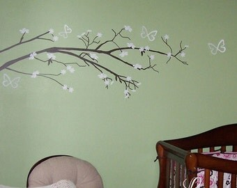 Cherry Blossom Tree Vinyl Wall Decal • Japanese Cherry Blossom Tree Home Decor • Custom Elegant Cute Bedroom Nursery Living Room Wall Art