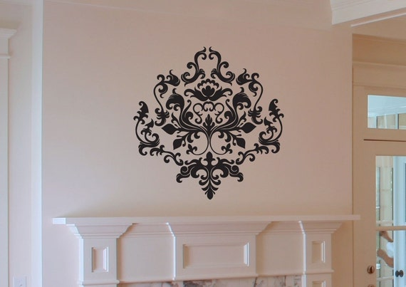 Baroque Style Damask Vinyl Wall Decal