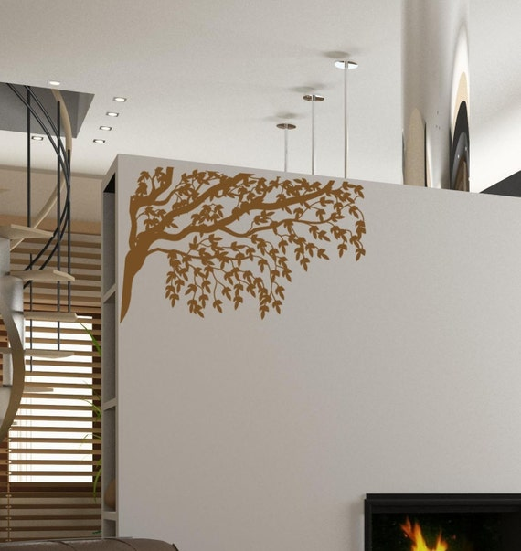 Gorgeous Tree Branches and Leaves Vinyl Wall Decal • Wall Decal for Ceiling • Tree Wall Decal • Reversible Wall Decal