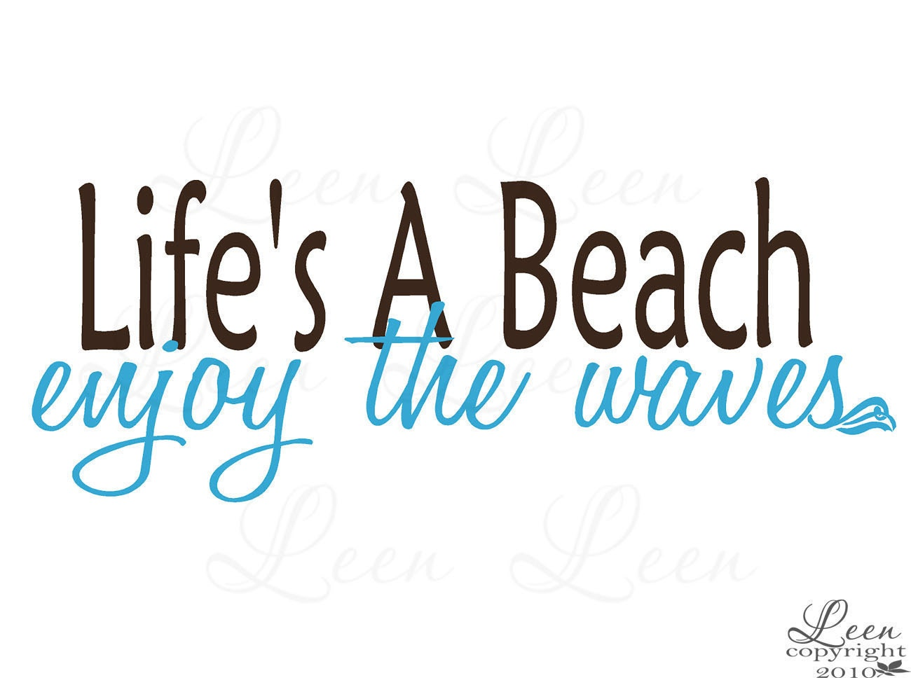 Beach saying wall decal lifes a beach enjoy the waves zoom amipublicfo Images