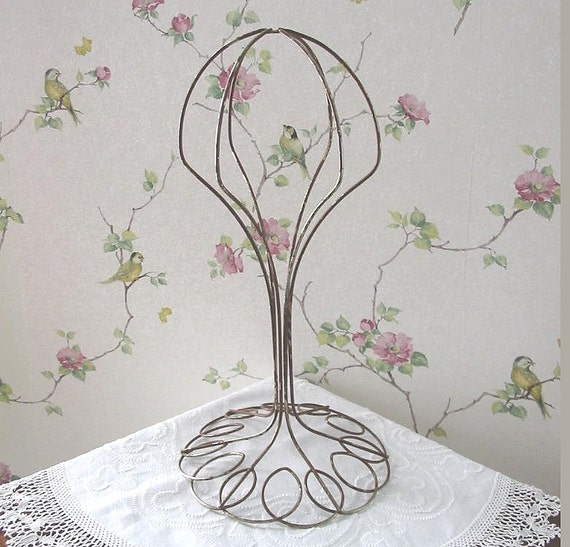 Vintage Wire Hat Rack Stand for Display