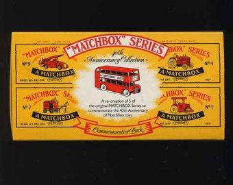 Original Set -Matchbox Series 40th Anniversary Collection - Copyright 1988- 5 Vintage Cars