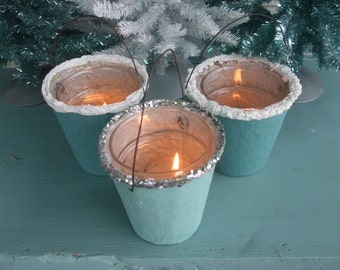 Candy Containers Sparkle Buckets Votive Holders Set of 4