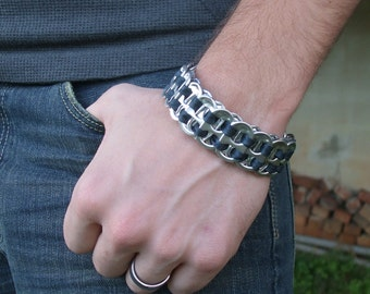 Men's FistiCuff Tab Top Cuff Bracelet Black Free Shipping