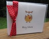 Owl Folded Notecards - Set of 10