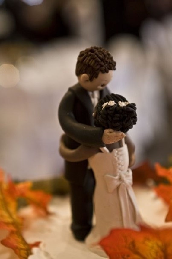 Etsy Interracial Cake Topper
