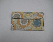 Mini Card Wallet or Coin Purse - Cookie Cutter Flower