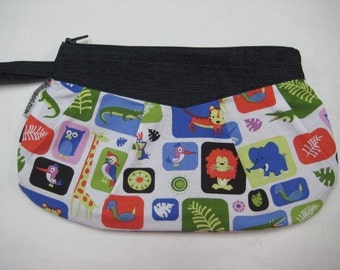 CUTE Animals Zipper Clutch or Wristlet