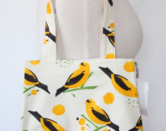 Purse Tote Bag - Yellow Bird Seed - Rounded Shape