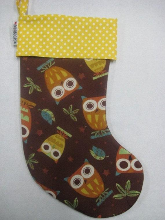 Christmas X'mas Stocking - Brown Owl