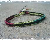 NEW COLOR Rasta Reggae Surfer Bracelet