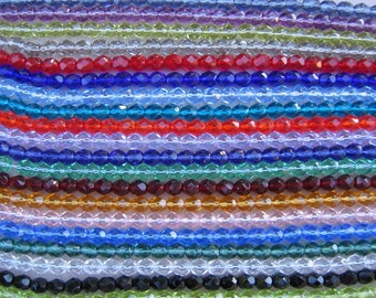 LOT of 500 Czech Firepolish Beads Faceted Round 6mm