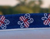 French Barrette Patriotic Butterflies