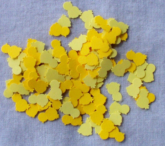 Hand Punched Mini Chicks Die Cut Yellow