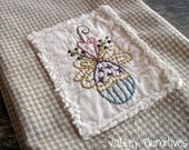 Easter Hand Stitched Kitchen Towel, Spring, Easter Eggs