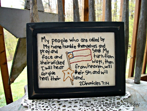 Patriotic Americana  Hand Stitched Stitchery, Armed Services, Army, Navy, Marines, Air Force