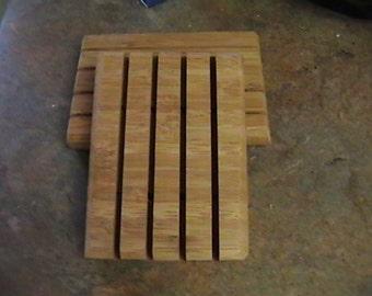 Bamboo Wood Soap Dish