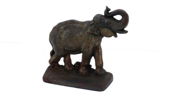 Hubley Elephant Bookend / Doorstop, vintage cast iron piece