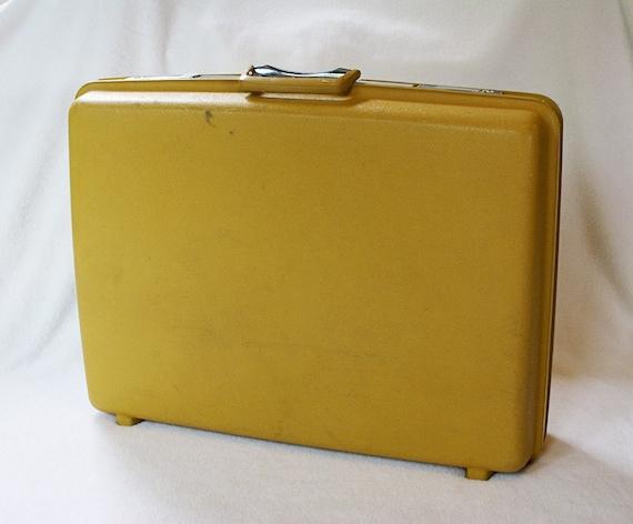 Samsonite Yellow Hard Suitcase