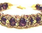 Plum Purple and Olive Green Bracelet
