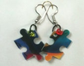 puzzeled earrings