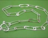 RESERVED- Paperclip Link Sterling Necklace