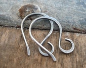 4 pairs of my Twinkle Sterling Silver Earwires - Handmade. Handforged. Oxidized and polished