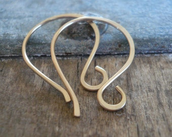 Large Twinkle 14kt Goldfill Earwires - Handmade. Handforged