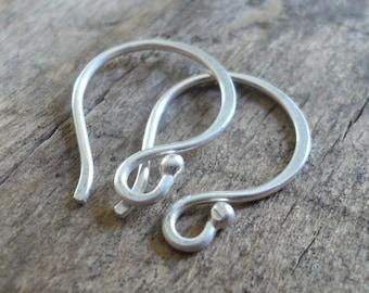 Ball End Twinkle Fine Silver Earwires - Handmade. Handforged