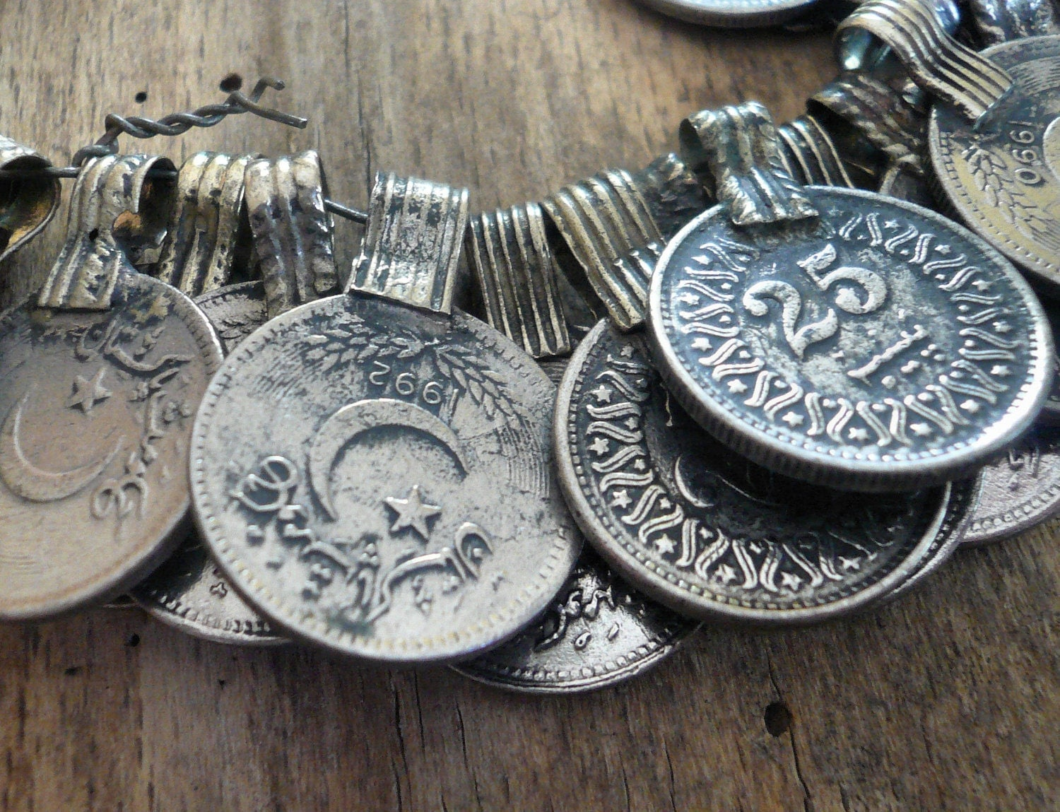 Middle Eastern Coin Pendant 17mm 1 Pendant