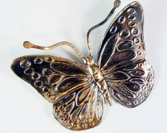 Sterling Silver Monarch Butterfly Brooch  608