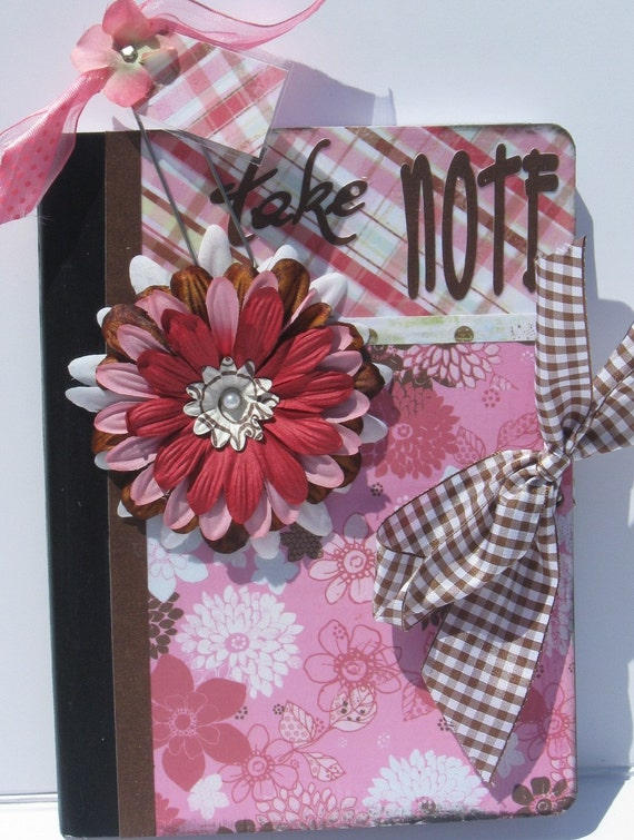 Altered Embellished Decorated Composition Notebook Journal and