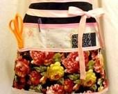 Black n Pink Rose Vendor - Crafter Waist apron