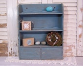 Turquoise Shelf // Wall Hanging // Shabby Chic // Cupboard