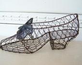 Vintage Chicken Wire Shoe