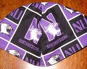 Northwestern University Wildcats kippah or yarmulke  great NCCA sports kippah