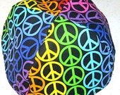 Peace signs kippah many bright colors yarmulke shalom -- toddler or regular size