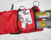 Epi Pen® or Auvi-Q ® case pouch carrier insulated zippered bag for epinephrine auto injectors with additional pocket--color choice