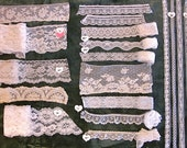 LOT vintage and modern white craft lace pieces