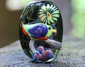 Green Bird (1) Lampwork Focal SRA