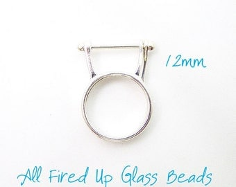Sterling Silver Interchangeable Bead Ring 12mm NEW PRICE